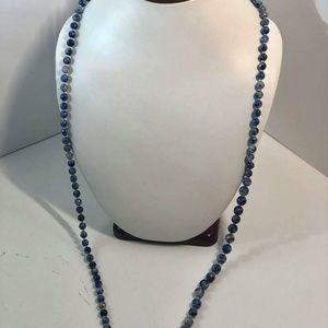 Pietersite Gemstone Round Beads Necklace #31
